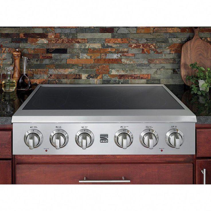 "Kenmore Pro 36"" Slide-In Electric Cooktop"