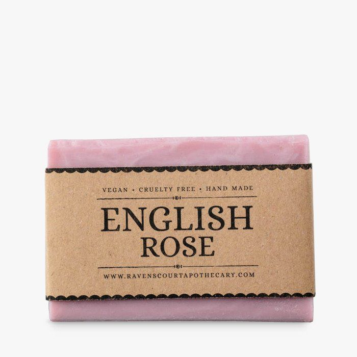 Handmade vegan soap with English rose #pink #soap #vegan #natural #ravenscourt