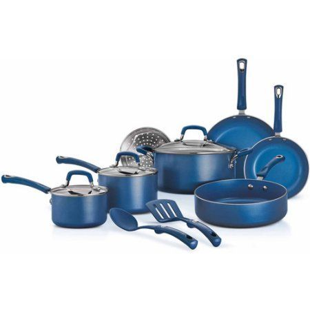Tramontina 12-Piece Style Nonstick Cookware Set, Blue