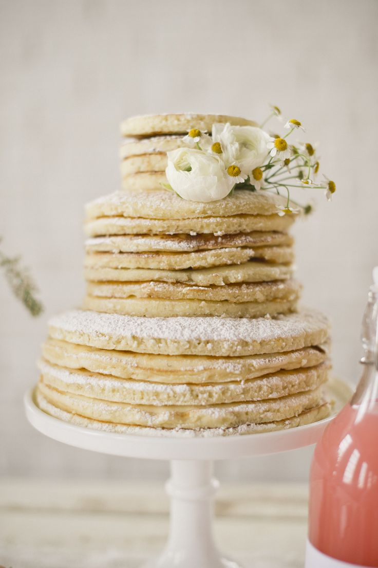 pancake cake.....do for someone's birthday to make breakfast extra special                                                                                                                                                                                 More