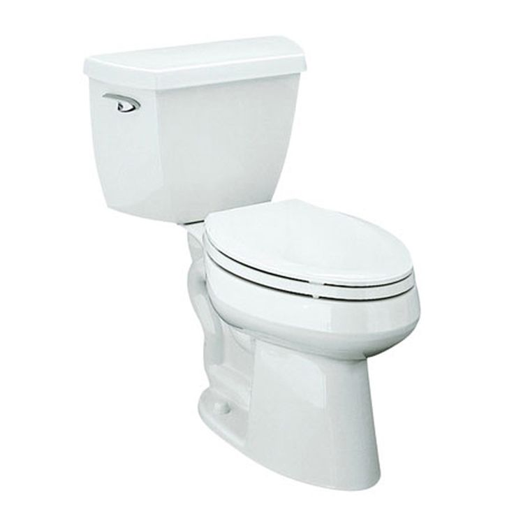 KOHLER Highline Classic White 1.28 Gpf (4.85 Lpf) 12-in Rough-in WaterSense Elongated 2-Piece Comfort Height Toilet