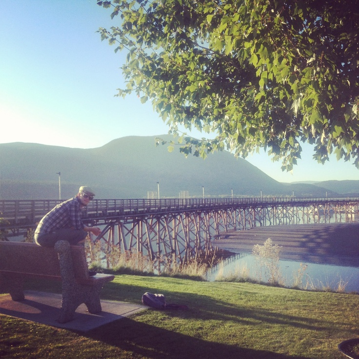At The Pier in Salmon Arm, British Columbia, Canada. Thompson-Okanagan. Follow our daily adventures at www.facebook.com/brightsideyoga