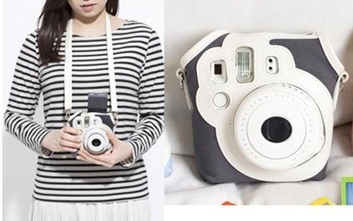 I want this!!! :D Fashion Canvas Camera Case Bag for Fujifilm Polaroid Instax MINI8 MINI8S Black | eBay
