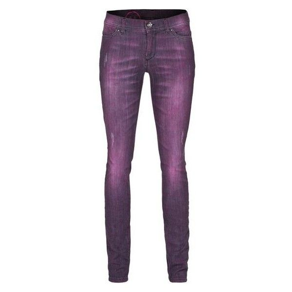 CAMOUFLAGE COUTURE STORK Sonia Dye Purple Dyed skinny jeans ❤ liked on Polyvore featuring jeans, super skinny jeans, camouflage couture, skinny leg jeans, denim skinny jeans and purple jeans
