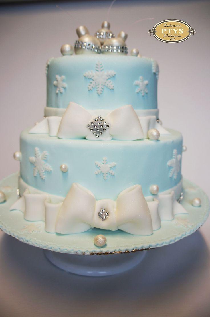 Oto nasz najnowszy tort weselny :) Tort zimowy :)