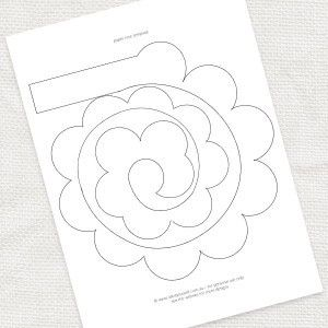 DIY paper rose template  idoityourself.com.au by renee