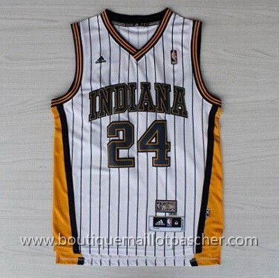 maillot nba pas cher retro Indiana Pacers George #13 Blanc nouveaux tissu 22,99€