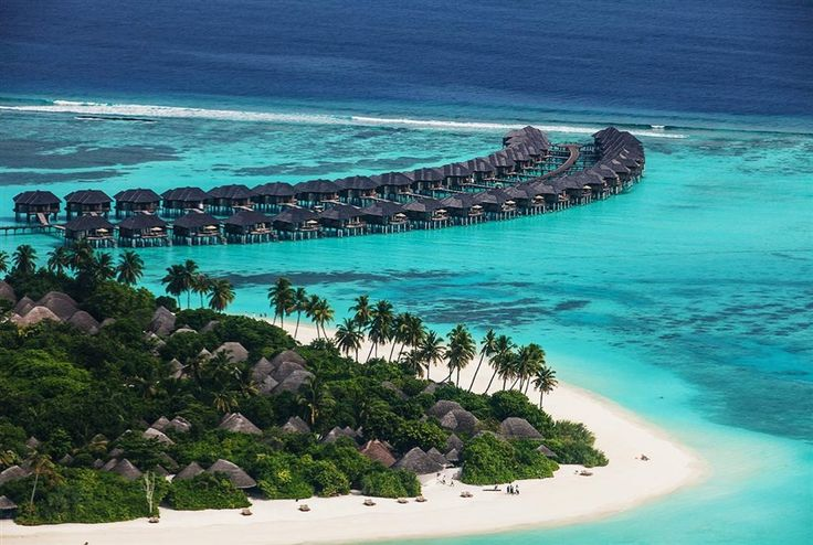 Aerial view of the perfect Over Water Villas at The Sun Siyam Iru Fushi, #Maldives.  Sign up to our luxury travel newsletter: http://www.luxtripper.co.uk/Signup/Pinterest/PinterestSignup.html