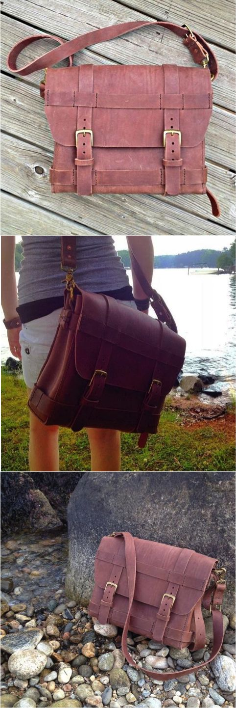 The Anchor Leather Co. Field Bag is handcrafted the old fashioned way, completely by hand. It is an easy going, hard-wearing bag designed for adventure and travel, but looks and acts just as good at a desk. It can be customized by thread color and leather color (leather color may increase lead-time). A Carry Handle can be added, as well as rivets instead of strap stitching.
