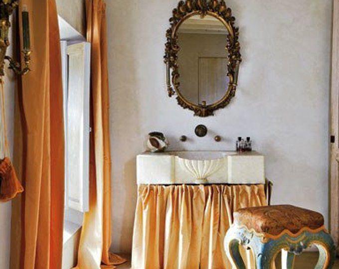 PALE PINK SILK curtain, poly dupioni silk, draping, window treatment, pink, cotton candy, ballet slipper, flamingo, light pink