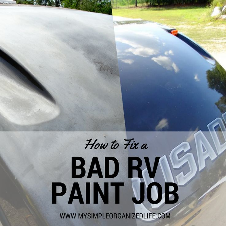 How to fix a bad RV paint job. An easy, cheap DIY hack