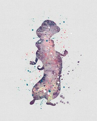 Watercolor - Princess Jasmine