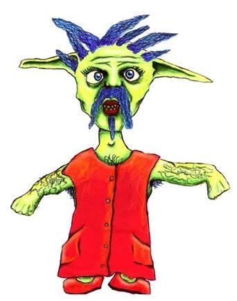 Cross Dressing Carl - Illustration for Children's Storybook 2002