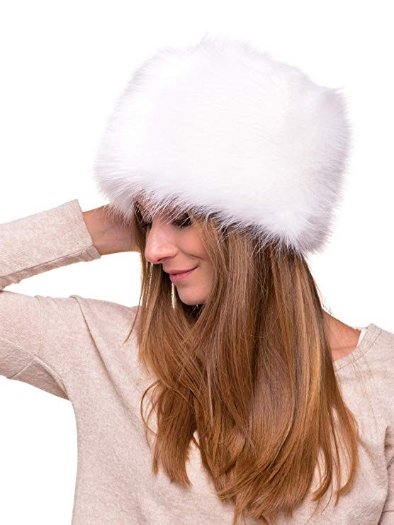 222de7dc0e8 Futrzane Women s Russian Cossack Faux Fur Hat for Winter (M ...