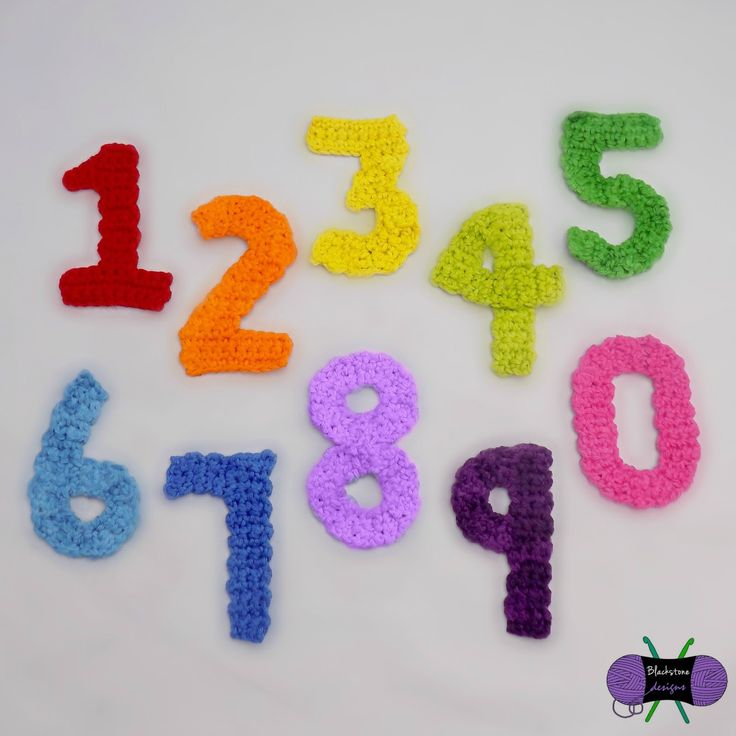 These numbers were made to go with the Birthday Party Hat  pattern.        Of course, they can be used for any project!