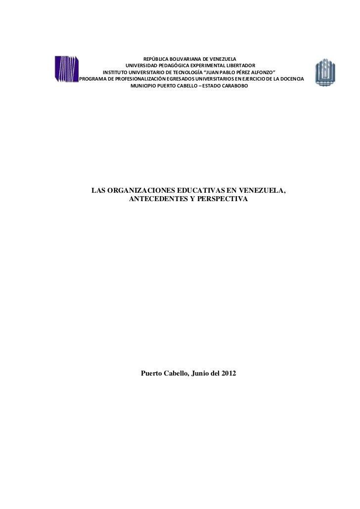 REPÚBLICA BOLIVARIANA DE VENEZUELA                UNIVERSIDAD PEDAGÓGICA EXPERIMENTAL LIBERTADOR       INSTITUTO UNIVERSIT...