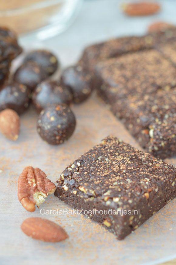 Gezonde raw brownie