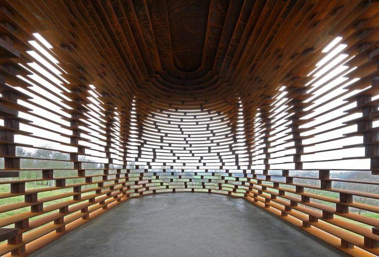 Architects: Gijs Van Vaerenbergh  Location: Looz, Limburg, Belgium  Stability: Ney  Execution: Cravero bvba (steal) / MEG (fundaments)  Initiator: Provincie Limburg / Z33  Year: 2011  Photographs: Filip Dujardin