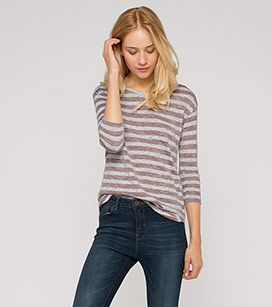 Damen Streifenshirt in weiss / rot - Mode günstig online kaufen - C&A