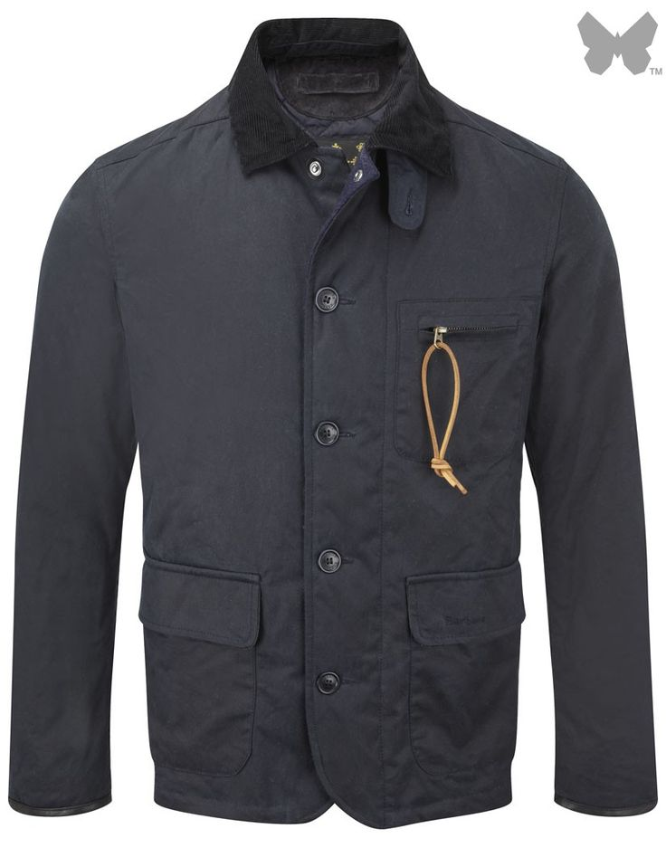 Barbour Men's Apsley Jacket – Navy MWX0717NY51 - Men's Wax Jackets - Men's Jackets and Coats - MEN | Country Attire