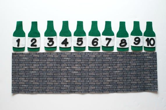 Ten Green Bottles Hanging On The Wall Pdf Felt Board Pattern Flannel Board Song Felt Board Patterns Early Childhood Centre Preschool Songs