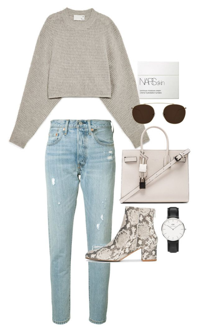 """Untitled #23353"" by florencia95 ❤ liked on Polyvore featuring NARS Cosmetics, Wilfred, Levi's, Illesteva, Yves Saint Laurent, ATP Atelier and Daniel Wellington"