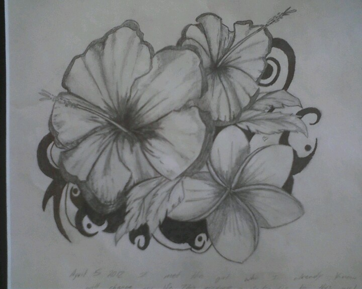 Drawing of tropical flower | Drawing ideas | Pinterest | Tropical ...