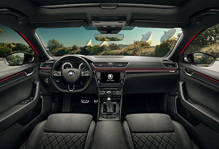 How do you like the interiors of New ŠKODA Superb SportLine? Image source: www.skoda-auto.com