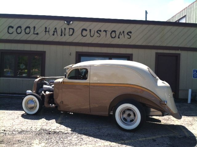 What do you do when you find the remains of a 1937 Dodge sedan? If you're EJ and Amy Fitzgerald of Cool Hand Customs in Middleton, WI, you drag it home and transform it into a custom sedan delivery…