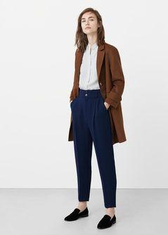 Струящаяся блузка в полоску