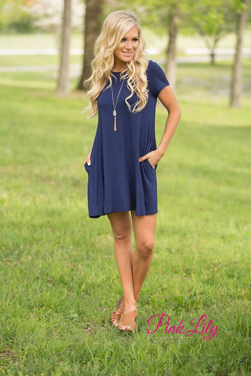 Relax and have a good time in this simple yet versatile dress! The soft material is perfect for any season - you can add a jacket and leggings for fall or wear with sandals for a summer look! We love the pockets on each side, as well!