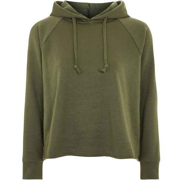 Topshop Petite Raglan Hoodie ($34) ❤ liked on Polyvore featuring tops, hoodies, sweatshirt, khaki, petite hoodie, topshop hoodies, khaki hoodie, petite tops and khaki top