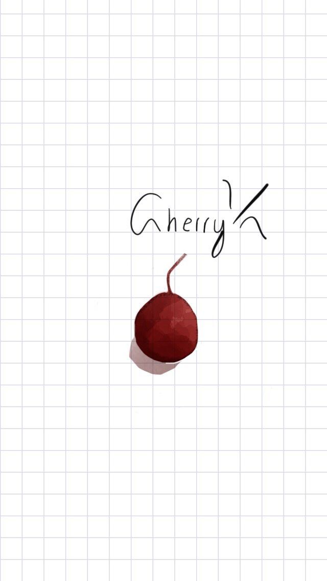 Watercolor, red, cherry, real, tiny, watercolor idea, sweet, tayasui sketches, watercolor inspired