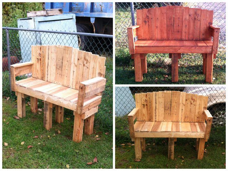 Yard Pallet Love Seat | Wooden pallets, Pallets garden and ...