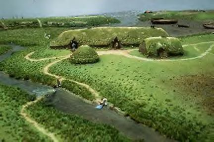 Viking settlement in L'anse Aux Meadows in Newfoundland