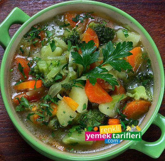 Kış Çorbası Nasıl Yapılır  Kış Çorbası Tarifi, Kış Çorbası Nasıl Yapılır, Çorba Tarifleri, Yemek Tarifleri, Sebze Çorbası http://www.renkliyemektarifleri.com/kis-corbasi