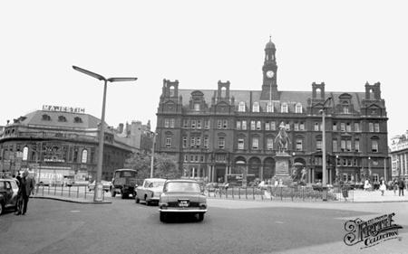 Old photo of City Centre c1965, Leeds