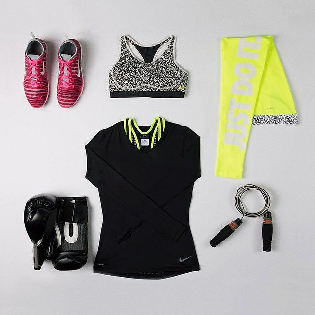 Ready to rumble. #NikeProBra #ootd