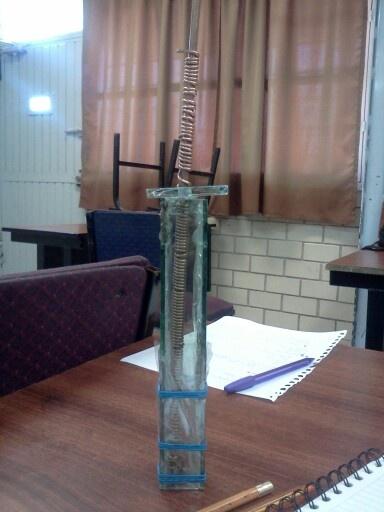 Electrodo de referencia fabricado por el Ing.Andrade , para medir nivel de corrosión en una estructura de concreto armado