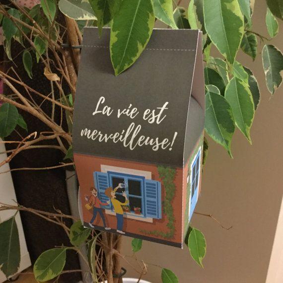 Casetta di carta  scatolina di bluecuckoostudio su Etsy