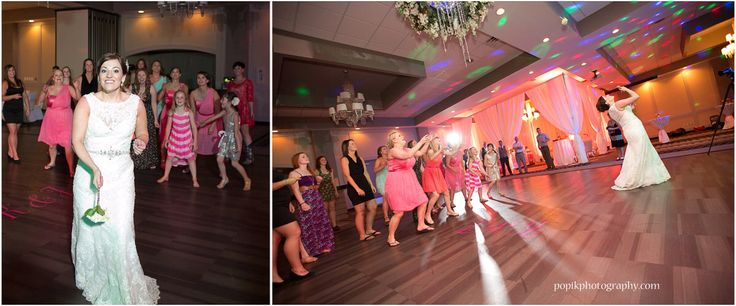 Bridal Bouquet Toss #bridesmaids #bouquettoss #bride #bethenextbride #pomeroyhotel