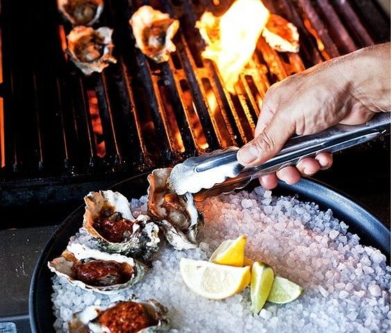 Hog Island Oyster Bar; rated one of the top oyster bars by food and wine