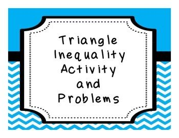 Triangle Inequality Theorem - fun with licorice - geometry activity