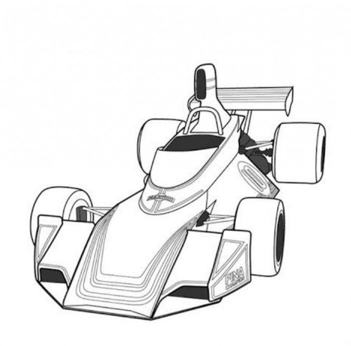 Fittipaldi F5A F1 Classic Race Car Coloring Page