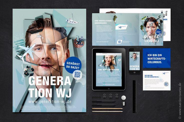 campaign for WIRTSCHAFTSJUNIOREN DEUTSCHLAND   design by NARCISS & TAURUS