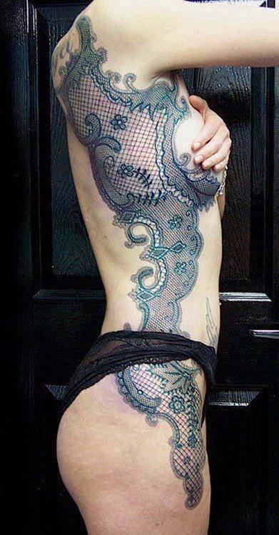 lace tattoo | Tumblr WOW!