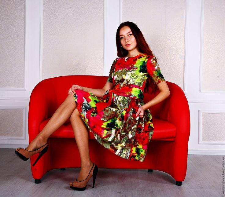 Купить Платье из итальянского хлопка летнее - женское платье, платье, платье женское, платье для девушки