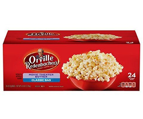 Orville Redenbacher's Movie Theater Butter Popcorn, Classic Bag, 24-Count