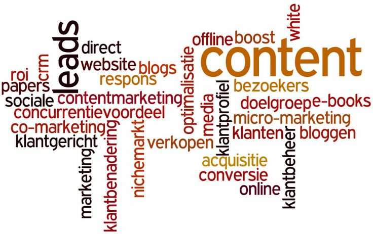 Een bundel tags die betrekking hebben op de marketing anno 2013/14 Bron: http://www.multiraedt.nl/marketing/