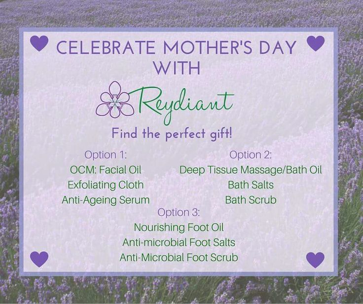 Reydiant Mother's Day Pamper Pack Options! Email info@reydiant.com to order! While stocks last!